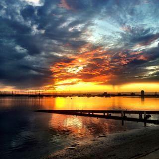 Rain clouds afire  St Kilda you're so damn pretty @melbourneiloveyou @visitmelbourne @australia