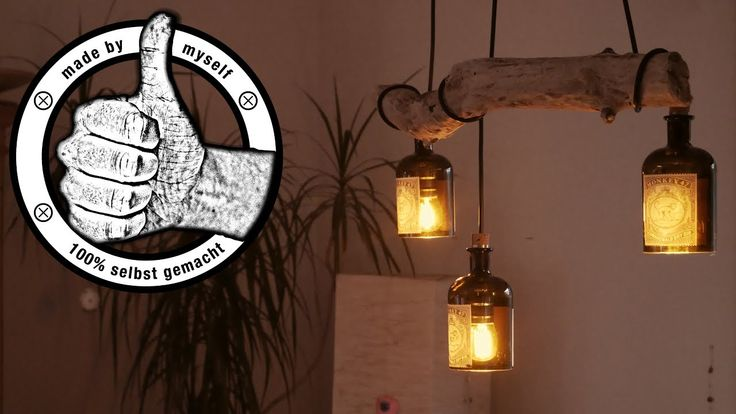 Esstischlampe Lampe selber bauen, machen Anleitung, DIY Flaschenlampe Tr…