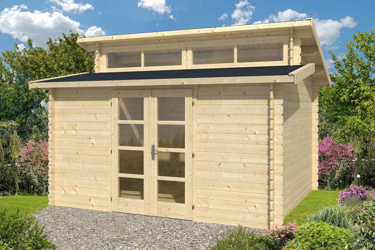 Hans Log Cabin 4.0x3.4m Dual pitch roof Log cabin