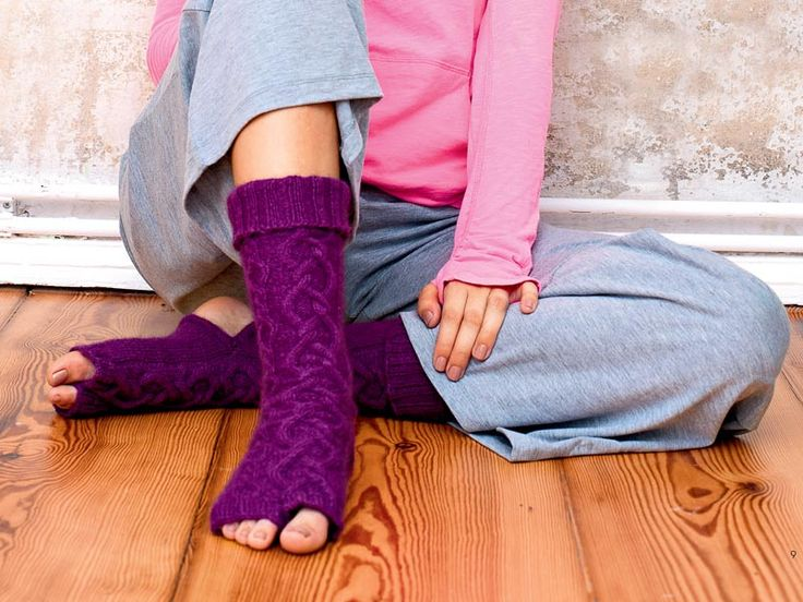 Носки для йоги - схема вязания спицами. Вяжем Носки на Verena.ru
