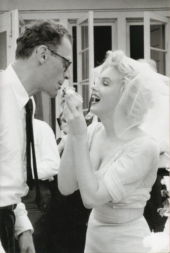Love how happy Marilyn looks in this photograph taken on her wedding day July 1, 1956.