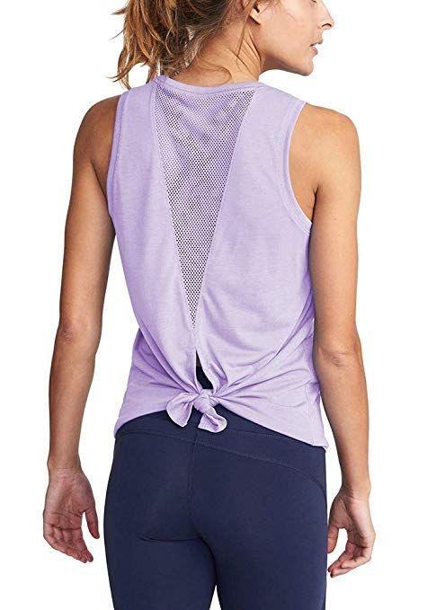 369feb235acbc4 Women s Cute Yoga Workout Mesh Shirt