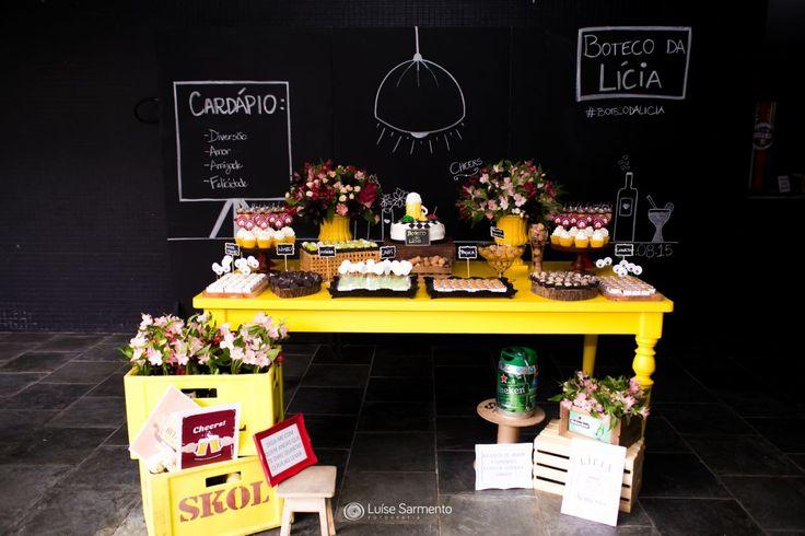 decoracao de boteco simples:Boteco da Lícia – Inspiração para Chá-Bar