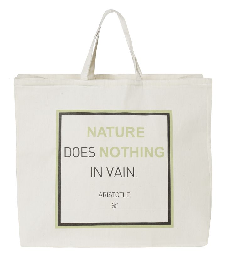 Beach Bag Nature: Nature does nothing in vain. - Aristotle