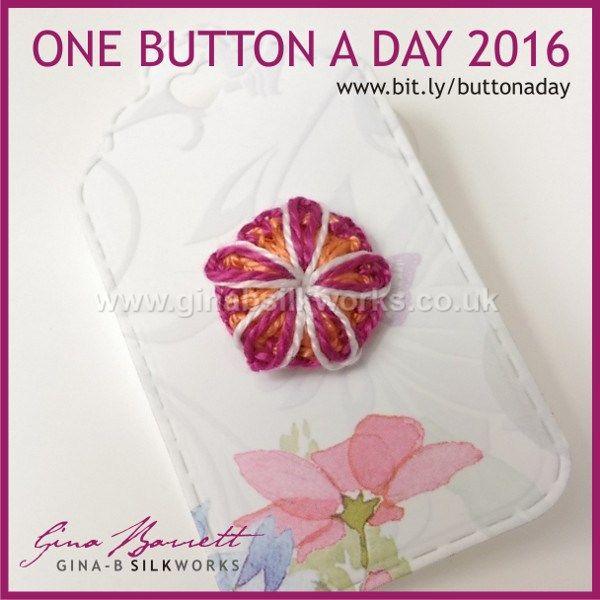 Day 224: Fleur #onebuttonaday by Gina Barrett