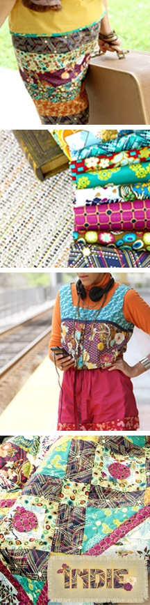 Making beautiful #quilts and #apparel with Indie