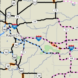 Safe Travel USA - road map and road conditions