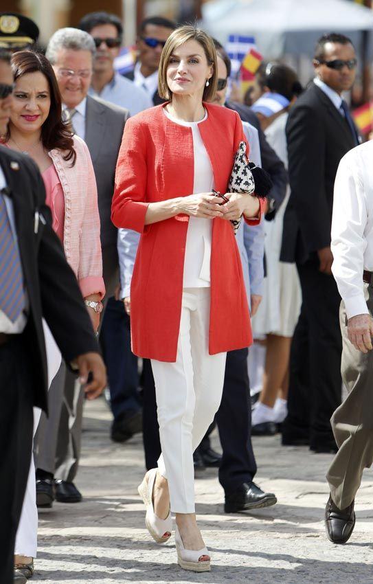 MyRoyals: Visit to Central America, Honduras, May 26, 2015-Queen Letizia