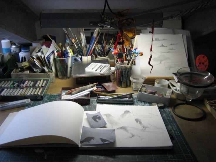 """Ormai lo sapete, siamo innamorati delle """"postazioni di lavoro"""" degli illustratori: ecco quella di Sonia M.L. Possentini"""