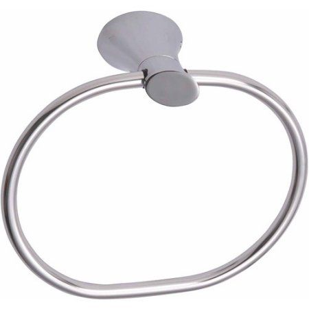 Ultra Faucets UFA41010 Chrome Contemporary Towel Ring, Multicolor