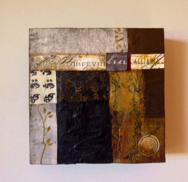"""Fevre"" - Mixed media collage - Trudi Sissons"
