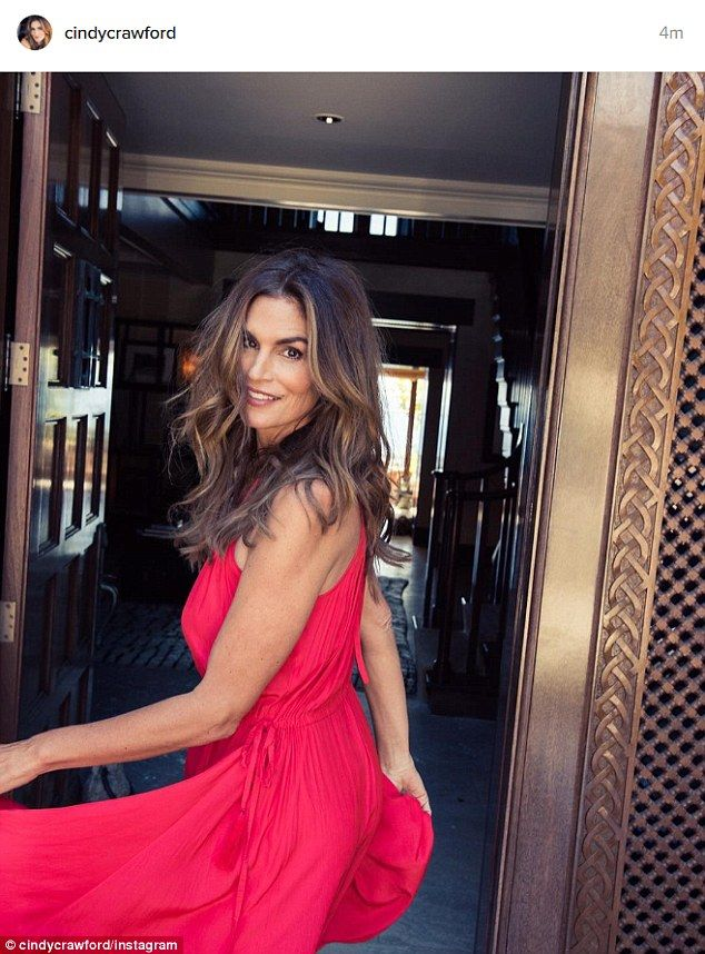 Fountain of youth: Sunday, Cindy Crawford proved she can still slay any catwalk at any age...