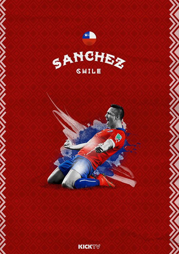 Copa America 2015 on Behance / Alexis Sánchez / Chile / La Roja