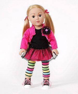 Look what I found on #zulily! Madame Alexander Dollie & Me 18'' Blonde Doll & Fuchsia Outfit Set by Madame Alexander #zulilyfinds