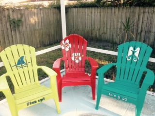 Before You Pitch Those White Resin Chairs... - Living in Florida with a screened (but no roof) pool, means we're sort of married to plastic pool…