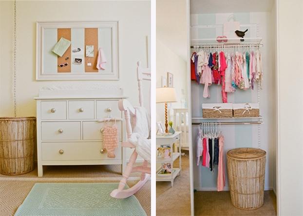 Darling Nursery With A Striped Closet!