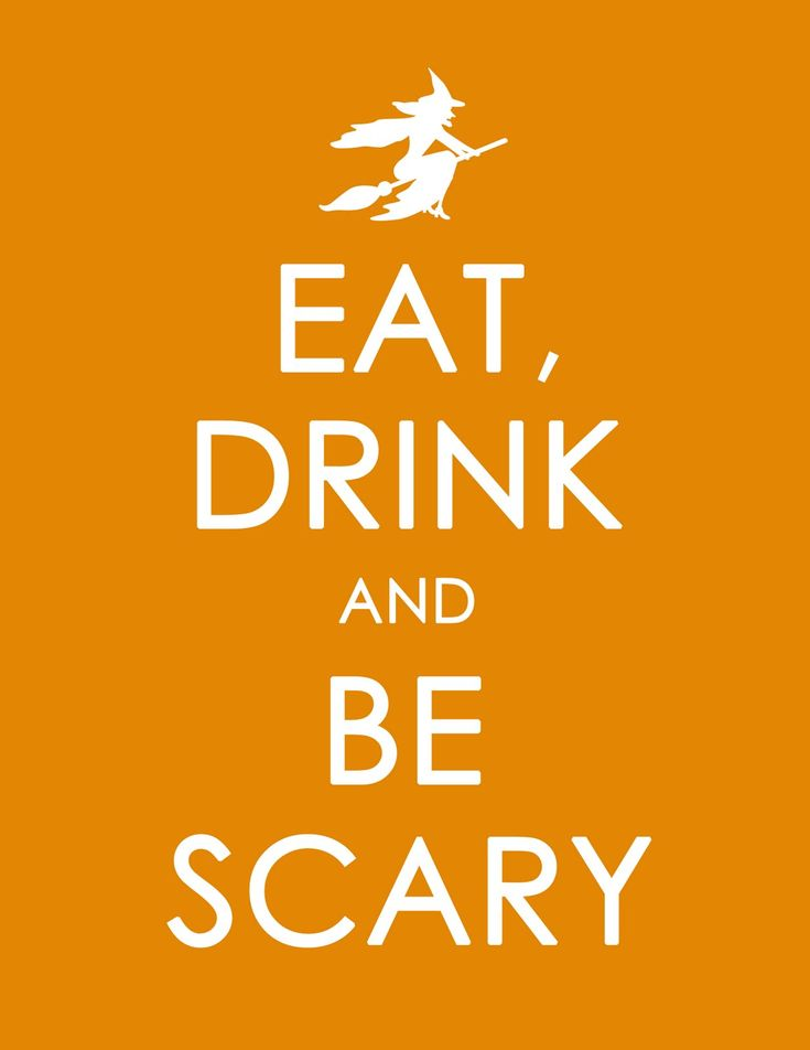 Eat Drink & Be Scary halloween