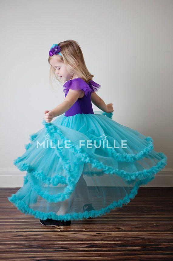 Blue dress ariel dance