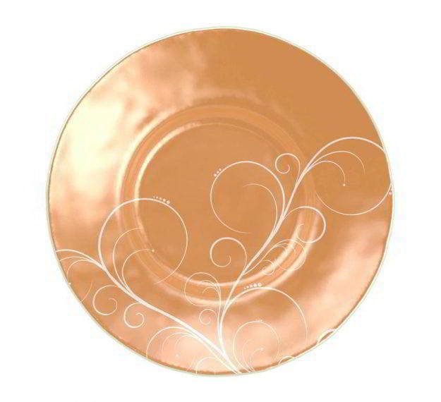 AnnaVasily- A large soup bowl, Alisa is decorated with our own Vivace pattern on matte gold.