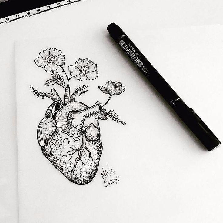 Coração feito por @ninabogo