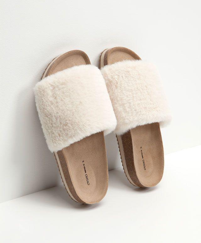 Sandalia moda pala borrego - OYSHO