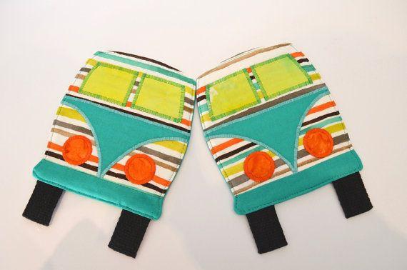 Kombi coaster camper mug rug retirement gift by RobynFayeDesigns