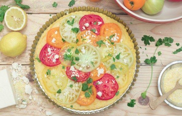 Gluten-Free Polenta Tomato Tart Recipe
