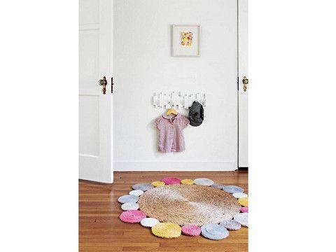 ARM-FW5 | Rug - Flower Weave - Daisy - Fog Multi Colour | The Banyan Tree Furniture