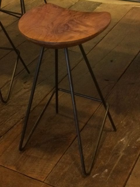 Mark Jupiter Bar Counter Stool With Walnut Seat And Blackened Steel Hairpin Legs Stools In 2018 Pinterest