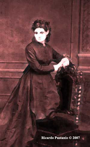The haunted portrait of Madame Delphine Lalaurie, who lived in the haunted house 1140 Royal Street in New Orleans, Louisiana (USA)