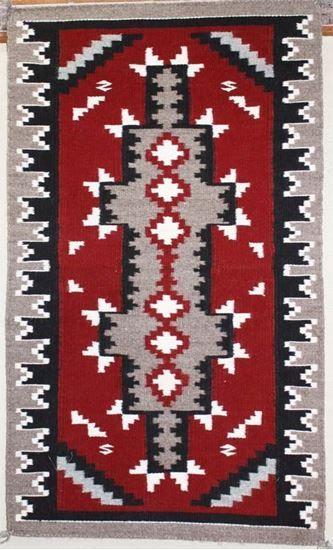 "Ganado Navajo Rug - Native American Handwoven Rugs   Vintage Rugs For Sale #NavajoRug For Sale  Just @ $315.00 on FoutzTrade.com   Ganado red Navajo rug by Navajo weaver Annie White; 23""w x 39""l      #NavajoRugs #NativeAmericanRug #NavajoCrafts #Artworks #NavajoWeavings #NativeAmericanWeavings #Traditional #NavajoCulture #NavajoIndianTribe #IndianAmerican #SouthWestern #Navajomade #Handcrafted #Handmade"