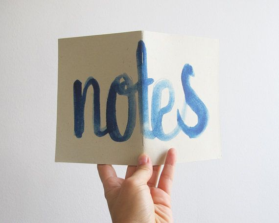 Notes  blue  A6 notebook by 10antemeridiem on Etsy, $5.00