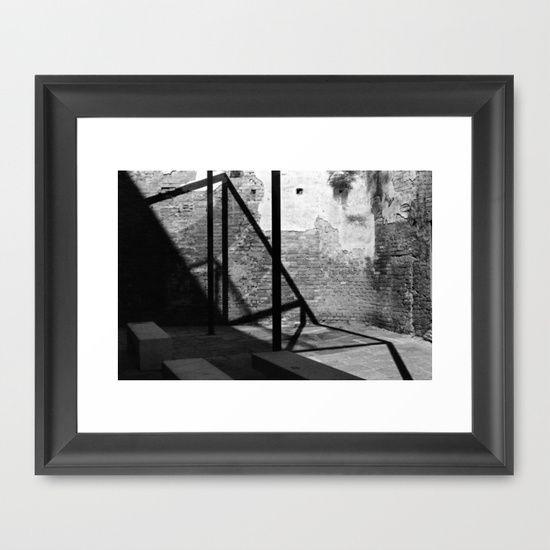 "FRAMED ART PRINT/ VECTOR BLACK MINI (12"" X 10"") Solid shadows by LaCatrina.it"