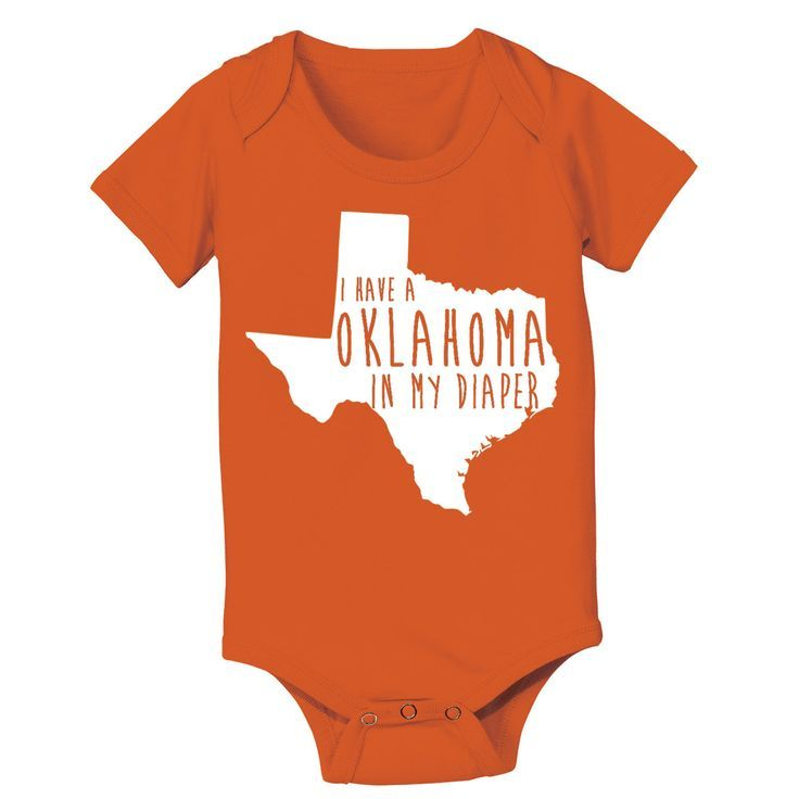 I Have a OKLAHOMA in my Diaper - infant funny texas longhorns football humor newborn gift jumper creeper - Baby ONE-PIECE DT0852