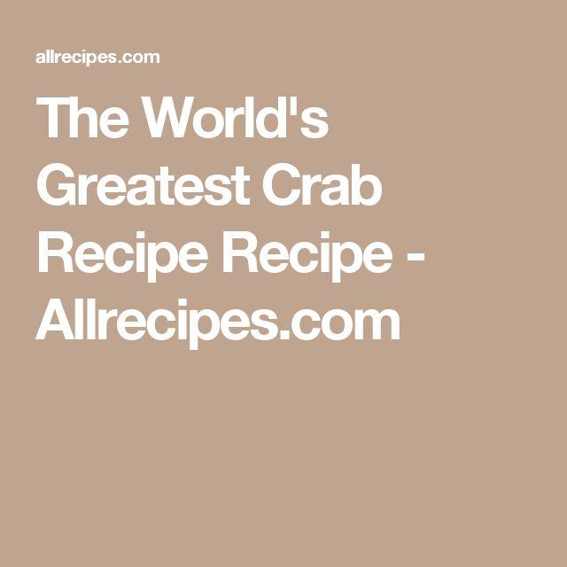 The World's Greatest Crab Recipe Recipe - Allrecipes.com