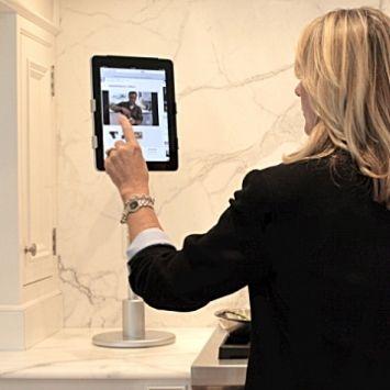 FLOTE Desktop IPad Stand Creates An Elegant, Ergonomic Workstation For Your  Kitchen Creation. FloteYourTablet