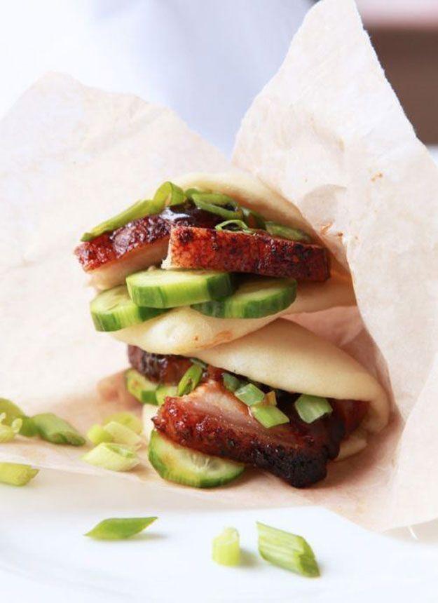 Copycat Food Truck Recipes - Momofuku Pork Buns | Homemade Recipes http://homemaderecipes.com/course/appetizers-snacks/homemade-food-truck-recipes