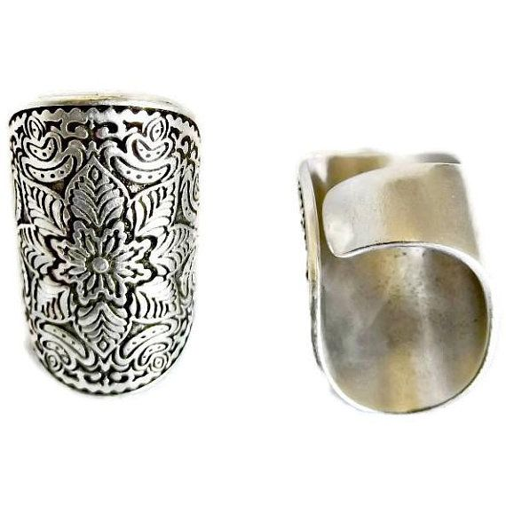 Knitting Twist Dama Niña 925 Sterling Silver anillo abierto Banda Pulgar PLT Ajustable
