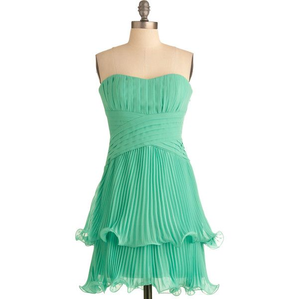 Max and Cleo Soiree in Santorini Dress ($59) ❤ liked on Polyvore featuring dresses, modcloth, slip dress, green slip, green dress, stretchy dresses and max and cleo dresses