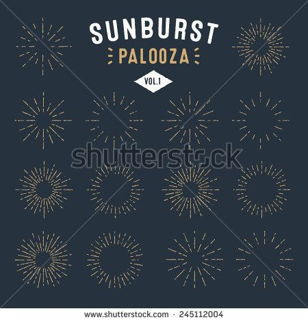 'Sunburst Palooza' Set of Retro Sun burst shapes for your next vintage design project | Collection of Sun ray frames vector design elements | Handmade quality illustration | Volume 1