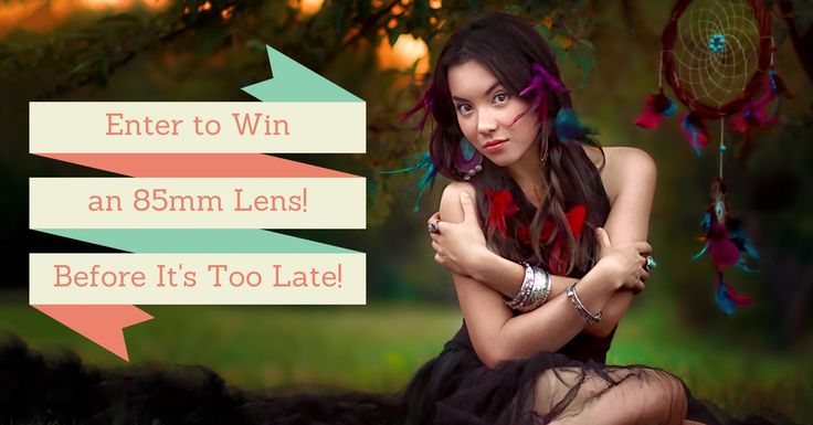 What are you waiting for? Click on the link to enter! No purchase necessary...great opportunity to upgrade some photography equipment