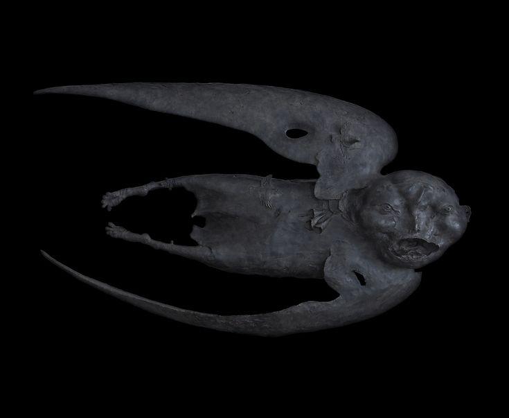 Даши Намдаков — Левитация, 2011 г. Бронза; литье, патинирование 85 х 153 х 38 см