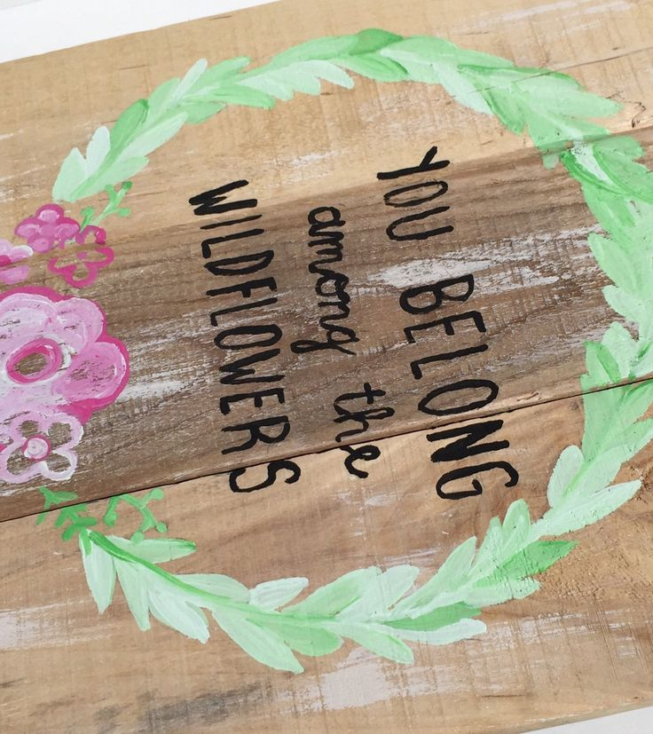 Boho New Rustic Boho nursery Décor Reclaimed Wood Wall Art Hippie Decor WILDFLOWERS New Rustic Pallet Sign You Belong