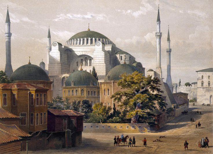 turkey-hagia-sophia-1852-granger.jpg (900×652)