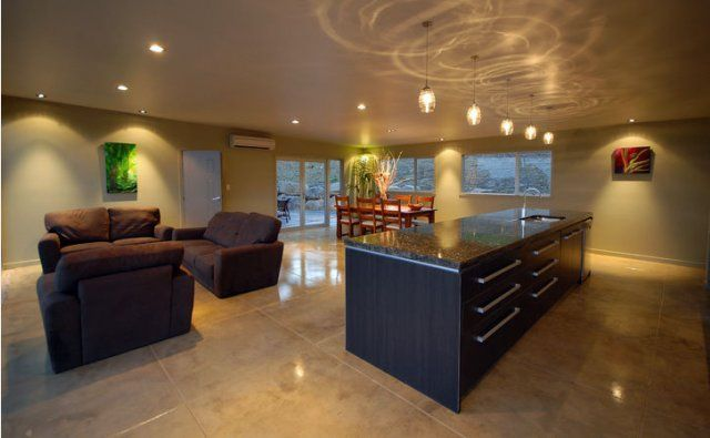 Beautiful warm environment is creating using PFL #323 oxide for this concrete floor
