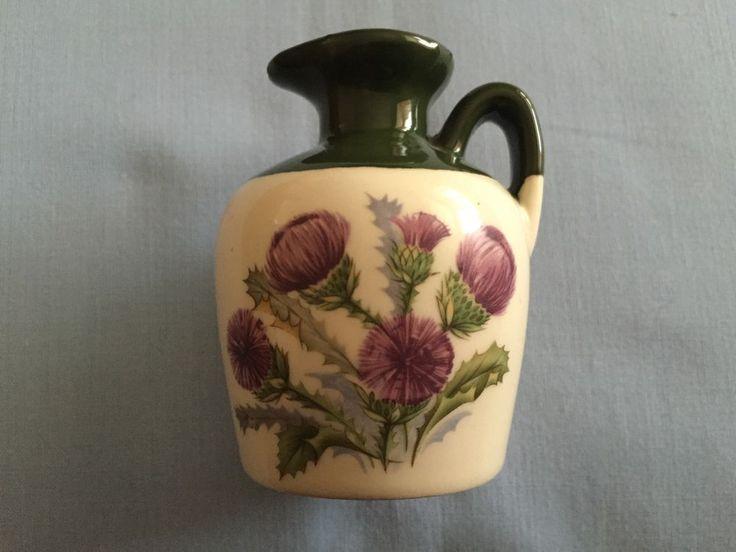 Glen Fiona Scotch Whisky Miniature Jug Lindisfarne Scotland Thistles Design in Collectables, Bottles & Pots, Miniatures | eBay