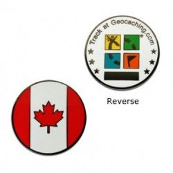 Canada GeoCoin proud to be Canadian ! Pick up this patriotic coin @ratherbecaching.ca