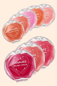 I looove the Canmake cream blushes <3 - Get Clear Red which looks great on any skin color