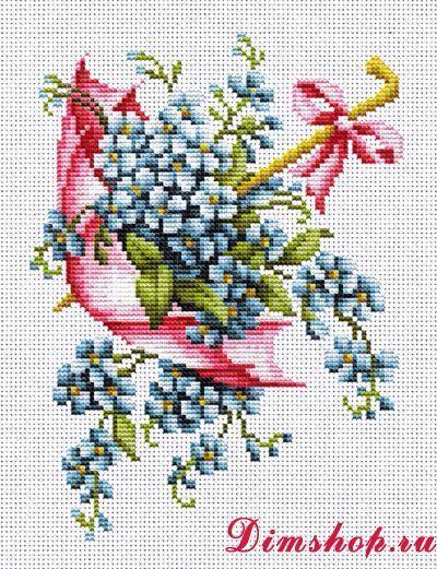 Embroidery set Luca-S B111z Pink umbrella