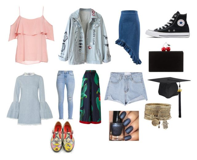 """""""READ DESCRIPTION"""" by abeanfromouterspace on Polyvore featuring BB Dakota, Marques'Almeida, F.R.S For Restless Sleepers, Converse and Edie Parker"""
